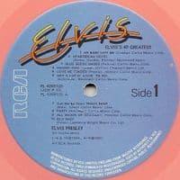 ELVIS PRESLEY 40 Greatest Vinyl Record LP RCA 1978 Pink Vinyl